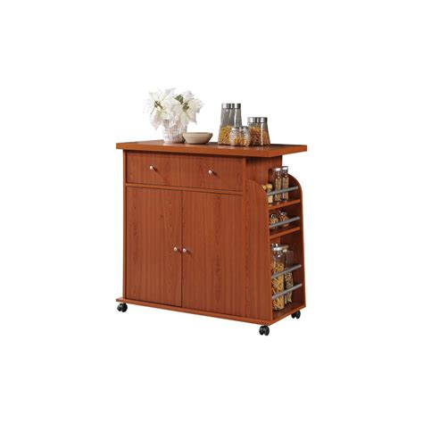 cherry kitchen island hodedah kitchen island cherry with spice rack hik65 cherry