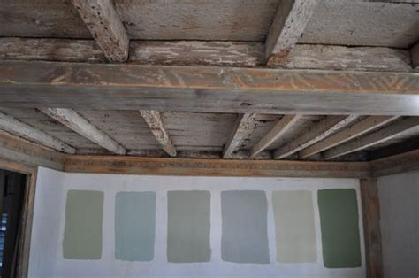 painted beams ceiling home sweet someday