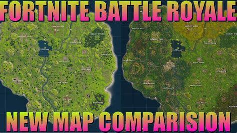 fortnite original map fortnite battle royale new vs map comparison