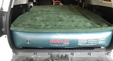 comfortable ways to sleep in a car truck air mattress probably way more comfortable than and