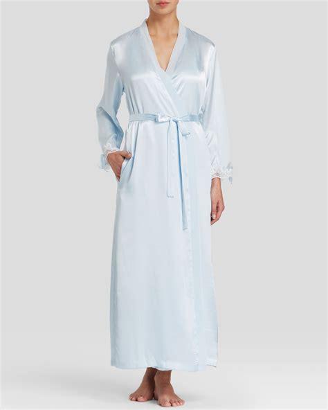 oscar de la renta robe oscar de la renta tying the knot robe in blue lyst