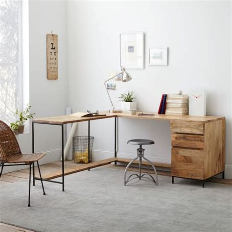 West Elm Office Desk Industrial Modular Desk Set West Elm