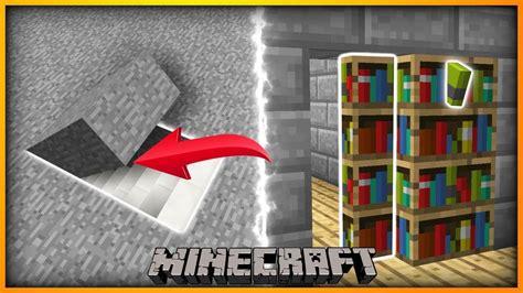 build  easy secret hidden doors minecraft