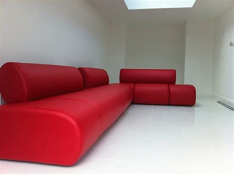 Bespoke Red Leather Large Corner Sofa By Ralvern Ralvern Bespoke Leather Sofa