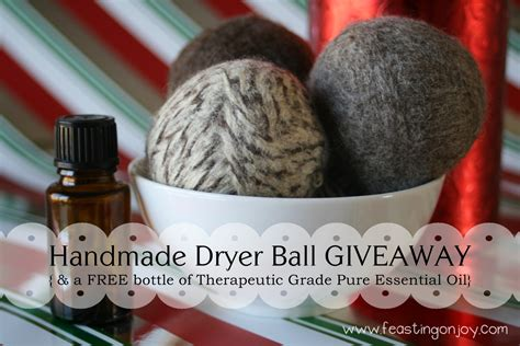 Handmade Giveaways - enter to win a set of handmade dryer balls with a gift of