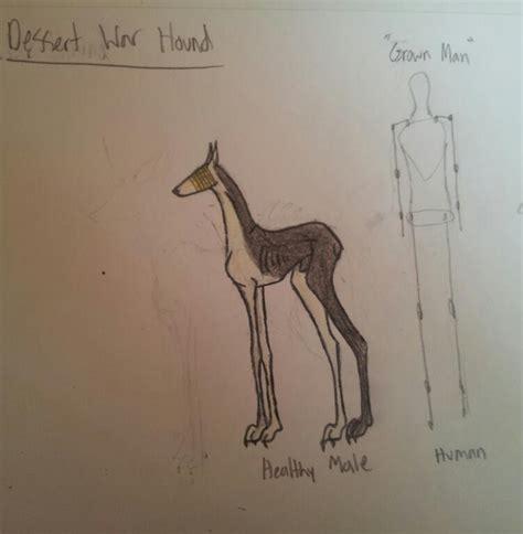 war breeds desert war hound breed sheet by millygirl02 on deviantart