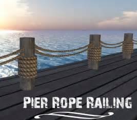 Second life marketplace pier rope dock railing nautical decor boxed