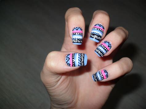 Aztec Nail Designs up aztec nail tutorial
