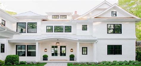white house with black trim 12 interesting white exterior house colors exterior house
