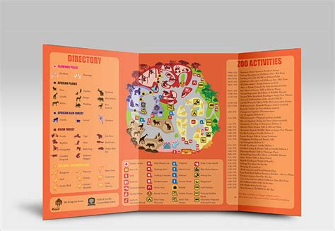 zoo brochure template zoo brochure 8 printable psd ai indesign vector eps