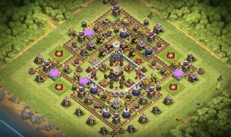 th11 clash of clans best base layouts clash of clans new best th11 town hall 11 22 hybrid base