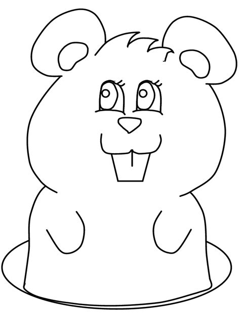groundhog coloring pages coloring home