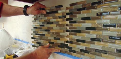 installing backsplash tile in kitchen how to install a mosaic tile backsplash today s homeowner