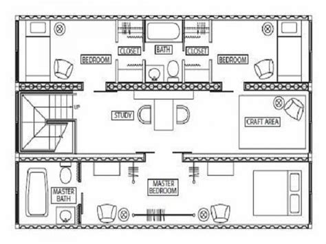 shipping container house plans with open floor plan