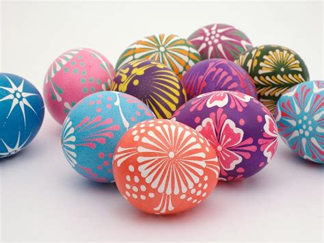 colorful easter eggs easter eggs recipe dishmaps