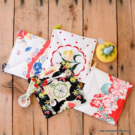 Handmade Fabric Gifts - handmade gifts 2014 easy vintage tablecloth fabric