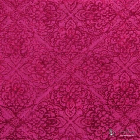 Embossed Velvet Upholstery Fabric by Samba Fuchsia Upholstery Weight Embossed Velvet Curtain
