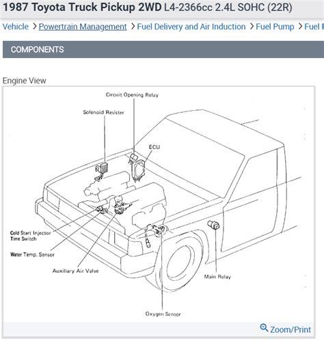 Toyota 22r Engine Diagram Starter Relay