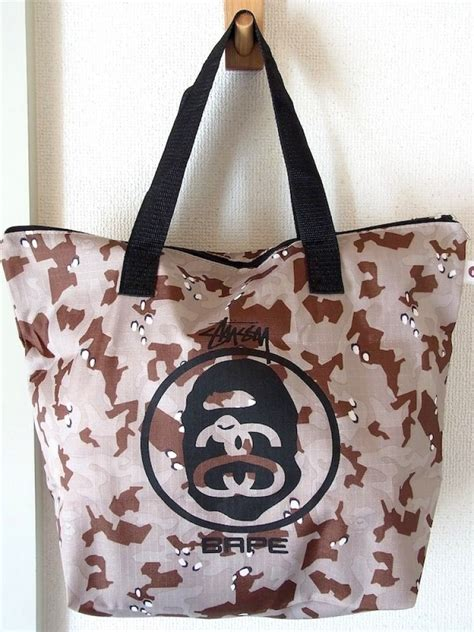 Bape Tote Bag Leather new a bathiing ape 215 stussy 215 smart quot tote bag quot limited corabo bape ebay