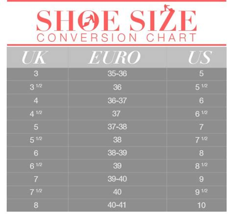 shoe size chart conversion shoe size conversion 101 save this chart and never order