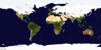 winter map shows most of northern hemisphere