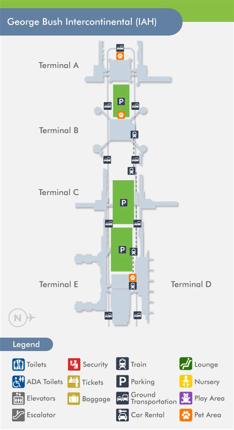 houston texas airport terminal map houston airport intercontinental iah terminal map