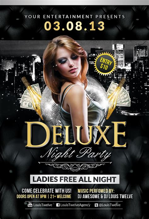 free nightclub flyer design templates free deluxe flyer template by louistwelve
