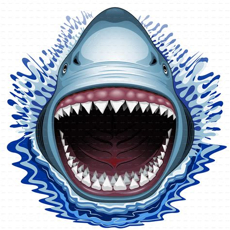 shark jaws attack by bluedarkat graphicriver