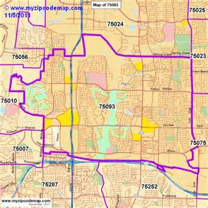 zip code map of 75093 demographic profile residential