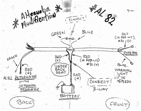 vw bug alternator wiring diagram vw free engine image