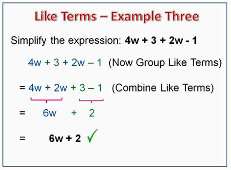 Combining Like Terms Definition