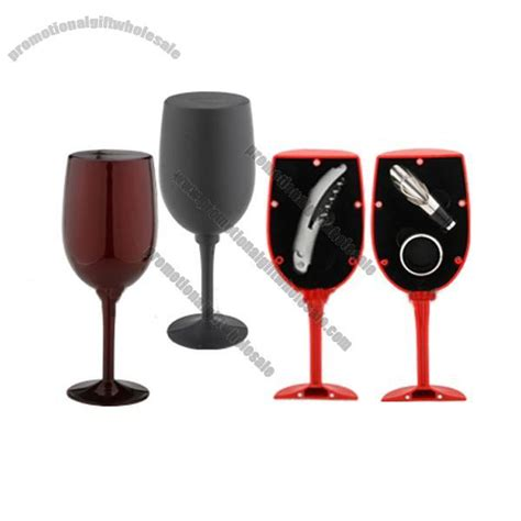 glass shaped wine gift set distributor 254032249