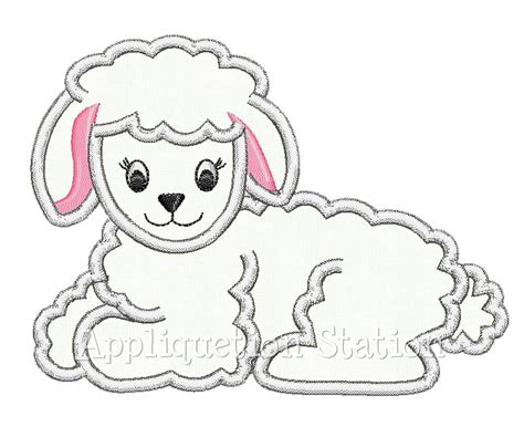 embroidery design lamb easter lamb applique machine embroidery design baby white