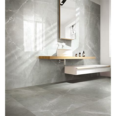 White Bathroom Floor Tile Ideas by Carrelage Sol Et Mur Gris Effet Marbre Rimini L 60 X L 60