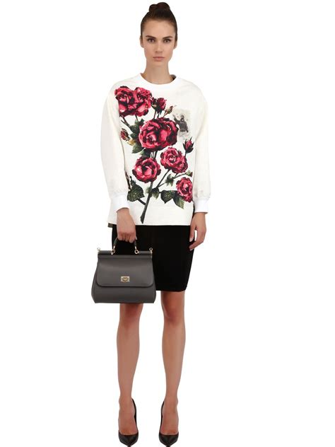 The Dolce Gabbana Small Carry by Lyst Dolce Gabbana Medium Sicily Dauphine Leather Bag