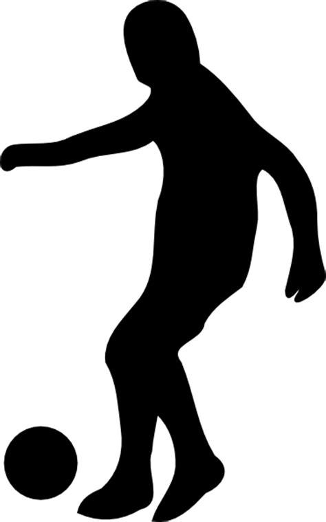 Soccer Player Silhouette Clip Art at Clker.com - vector