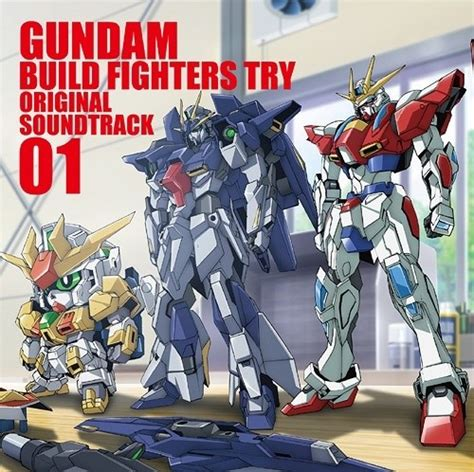 Jaket Anime Gundam 00q Cardigan gundam build fighters try original soundtrack 01 tokyo