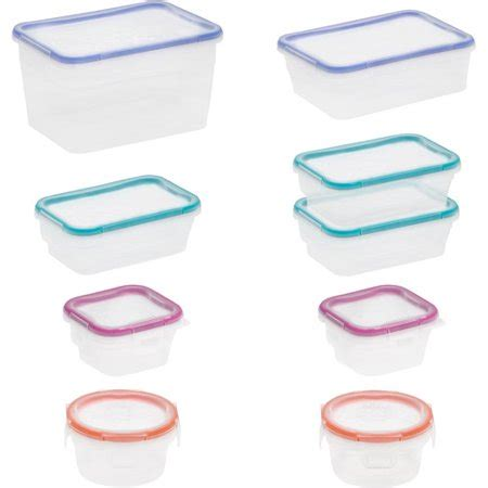 snapware containers snapware total solution 18 plastic container set clear walmart