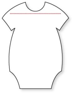 baby onesies cut out template girls wallpaper
