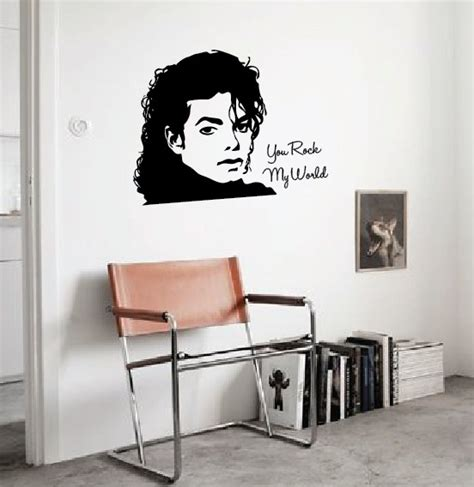 michael wall stickers wall sticker michael jackson walldesign56 wall decals