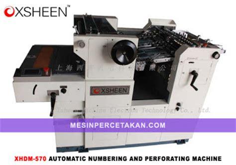 Mesin Nomorator Manual numbering perforating machine gronhi dm340 mesin cetak