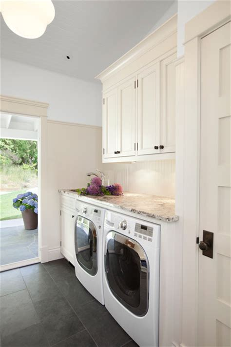 Best Flooring For Laundry Room by Charming White Laundry Room Cabinets Design At Traditional