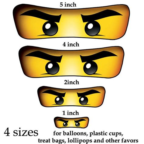 printable lego eyes ninjago eyes 4 sizes for balloon stickers lollipop