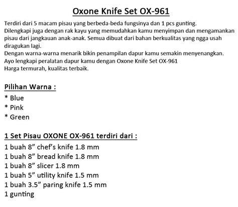 Oxone 923 Non Stick Knife Set oxone pisau set oxone ox 961 ox 923 dan ox 981 special discount toko niaga anyar bogor
