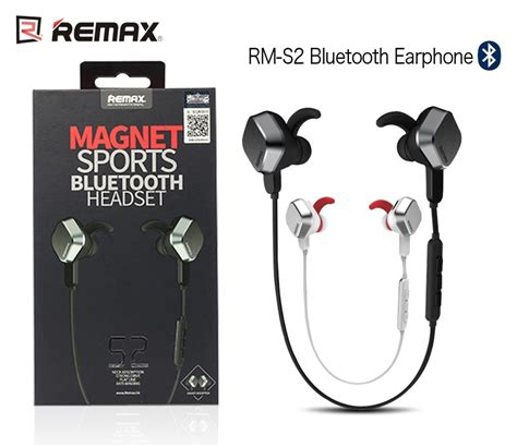 Bluetooth Wireless Headset Earphone Remax Rm S2 Original Quality Buy Remax S2 Magnet Sports Bluetooth Headset In