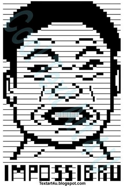Meme Text Face - impossibru meme face ascii text art cool ascii text art 4 u