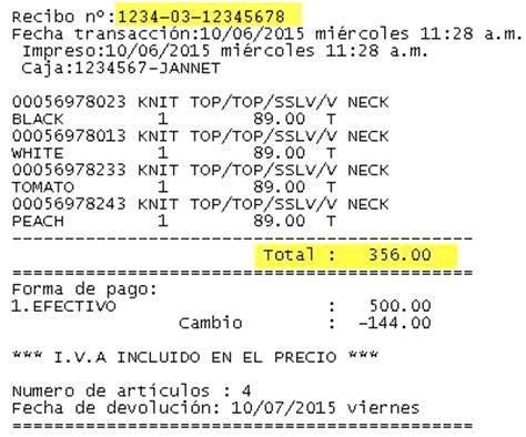 ejemplo de ticket de compra forever21 sacar factura electr 243 nica