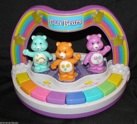 light up musical toys play along 80 s care bears musical dancing light up piano