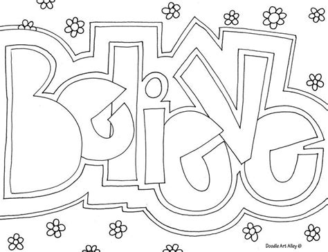 coloring page with color words geometric doodling templates http www doodle art alley