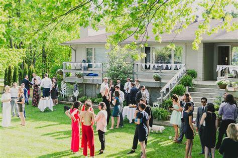 backyard wedding toronto backyard wedding toronto modern toronto backyard wedding jac adrian green